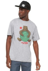 Camiseta DC Shoes Bearly Legal - Cinza
